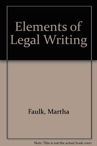 9780943380018: Elements of Legal Writing