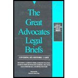 9780943380896: The Great Advocates Legal Briefs: Covering Six Historic Cases