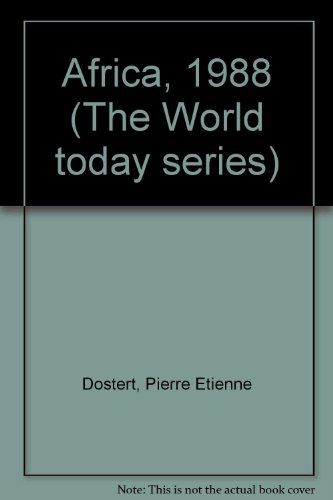 9780943448398: Africa, 1988 (The World today series)
