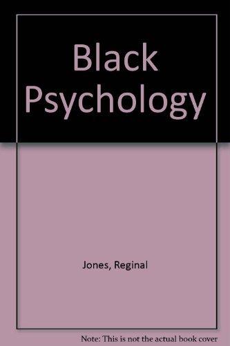 9780943539058: Black Psychology, 3rd Edition