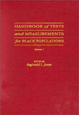 9780943539072: Handbook of Tests and Measurements for Black Populations