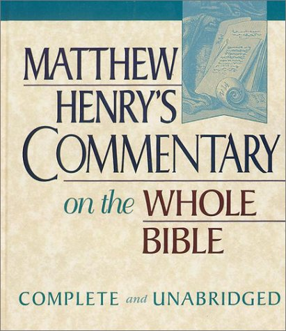9780943575322: Matthew Henry's Commentary on the Whole Bible