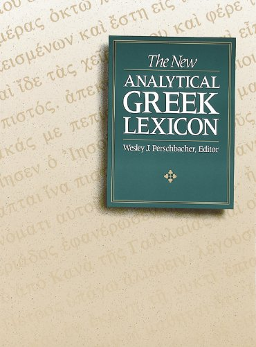 9780943575339: The New Analytical Greek Lexicon