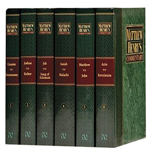 Matthew Henry's Commentary On the Whole Bible [6 volumes]