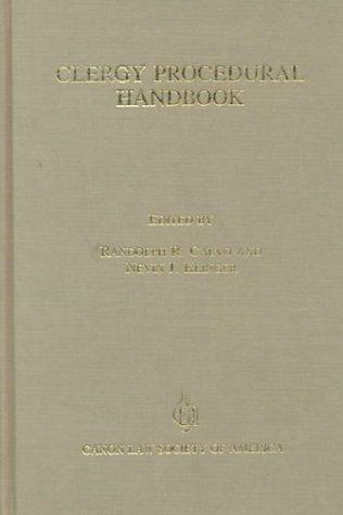 9780943616575: Clergy Procedural Handbook