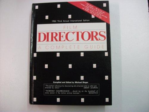 Film Directors a Complete Guide 1985: Singer, Michael