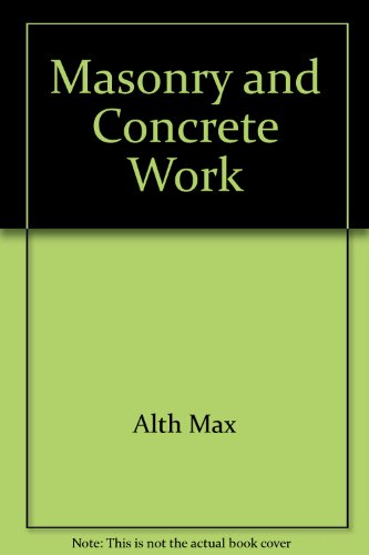 9780943822891: Masonry and Concrete Work