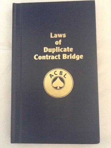 9780943855165: Laws of Duplicate Contract Bridge effective March 31, 1987