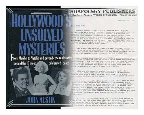9780944007495: Hollywood's Unsolved Mysteries