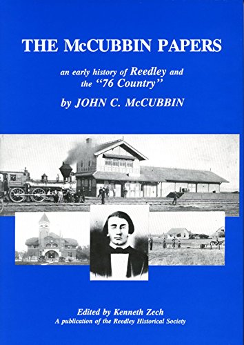 9780944194157: McCubbin Papers: An Account of the Early History of Reedley and Vicinity