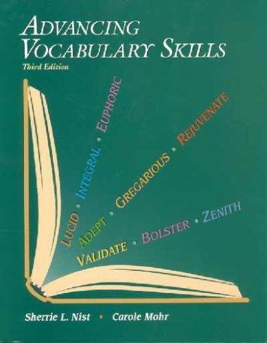 Advancing Vocabulary Skills: Carole Mohr; Sherrie