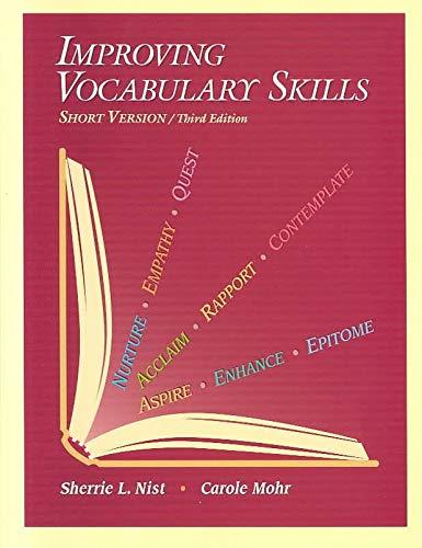 9780944210161: Improving Vocabulary Skills: Short Version
