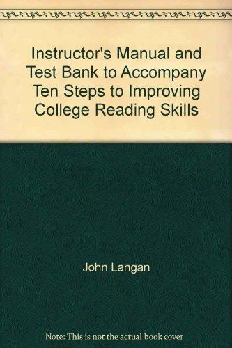 Instructor's Manual and Test Bank to Accompany: John Langan