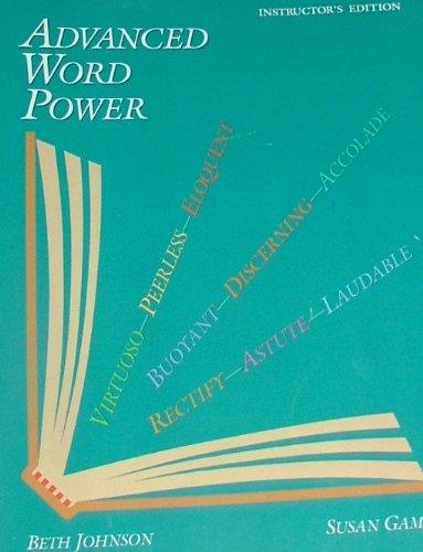 Advanced Word Power: Beth Johnson, Susan