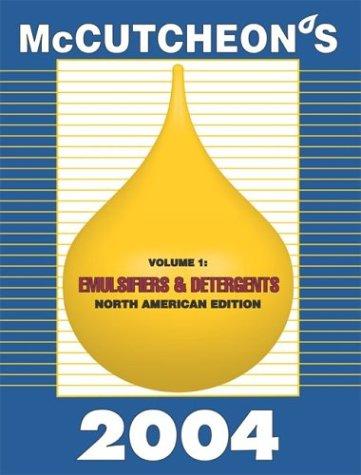 2004 McCutcheon's Emulsifiers and Detergents, North American