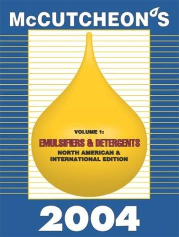 2004 McCutcheon's Emulsifiers and Detergents North American: MC