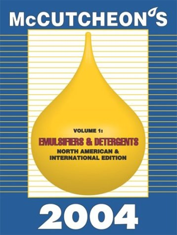 2004 McCutcheon's Emulsifiers and Detergents North American and International Edition: MC
