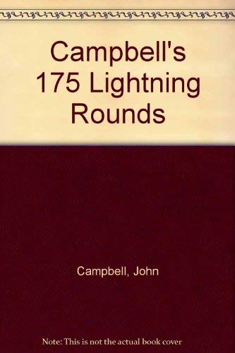Campbell's 175 Lightning Rounds: Campbell, John