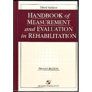 9780944480434: Handbook of Measurement and Evaluation in Rehabilitation
