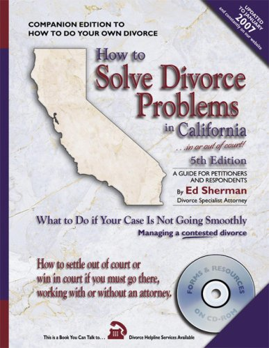 9780944508626: How to Solve Divorce Problems in California: What to Do if Your Case Is Not Going Smoothly