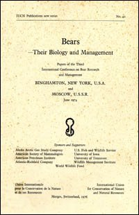 Bears: Their Biology and Management