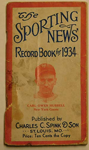 The Sporting News' Record Book for 1934: Lanigan, Ernest J.