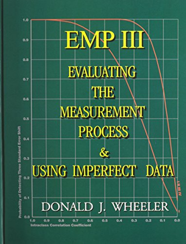 9780945320678: EMP III (Evaluating the Measurement Process): Using Imperfect Data