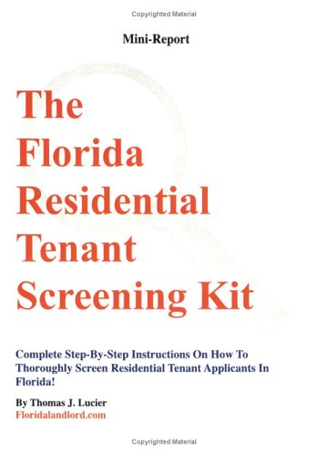 9780945343103: The Florida Residential Tenant Screening Kit