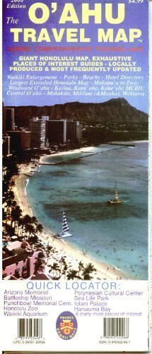 9780945422068: The O'Ahu Travel Map: Large, Comprehensive Touring Map: Giant Honolulu Map, Exhaustive Places of Interest Guides - Locally Produced & Most F