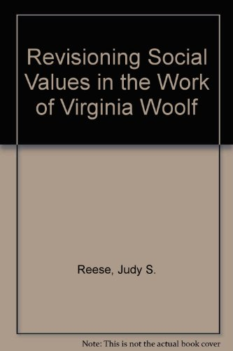 9780945636830: Recasting Social Values in the Work of Virginia Woolf
