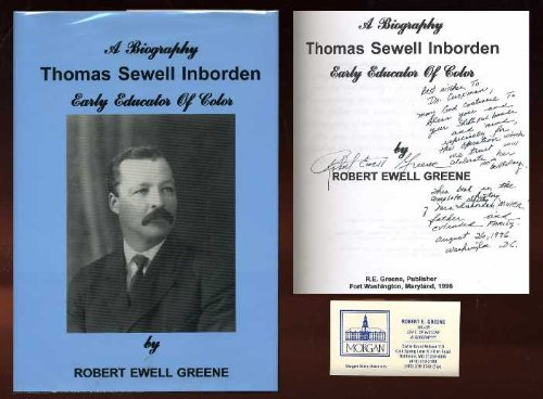 9780945733133: A biography: Thomas Sewell Inborden : early educator of color