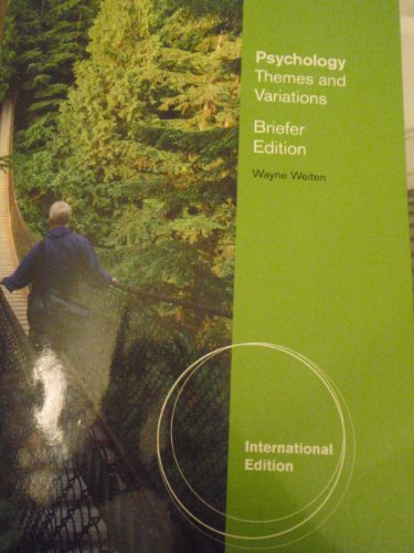 9780945811350: Psychology Themes and Variations Briefer Edition