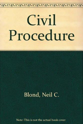 9780945819455: Civil Procedure