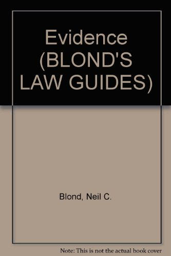 9780945819561: Evidence (BLOND'S LAW GUIDES)