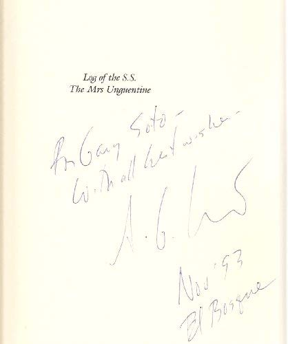 Log of the S.S. the Mrs. Unguentine: Crawford, Stanley G. [SIGNED]