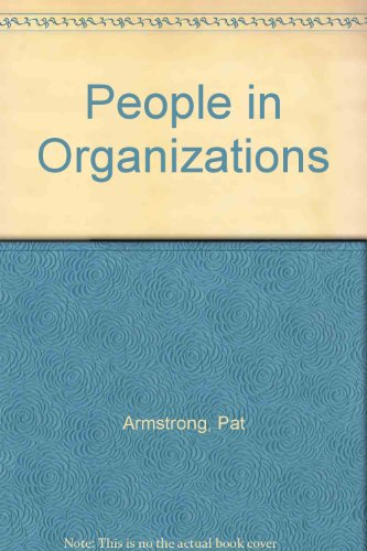 People in Organisations: Amstrong, Pat & Dawson, Chris