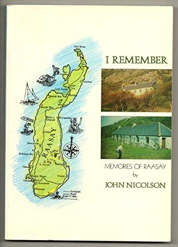 9780946270712: I Remember: Memories of Raasay