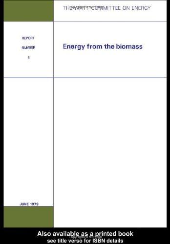 9780946392063: Energy from the Biomass: Watt Committee: report number 5
