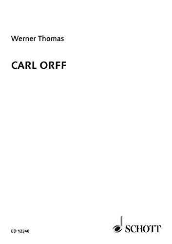 9780946535095: CARL ORFF (A CONCISE BIOGRAPHY)