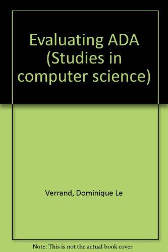 Evaluating ADA: Le Verrand, D.