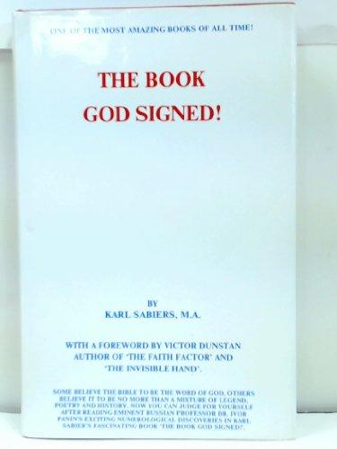The book God signed: Sabiers, Karl