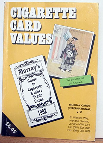 9780946942114: Cigarette Card Values (1992): Catalogue of Cigarette and Other Trade Cards