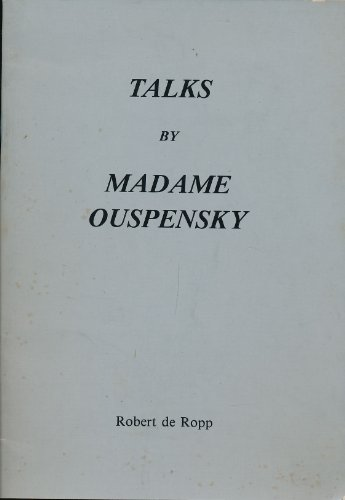 9780947669003: Talks of Madame Ouspensky