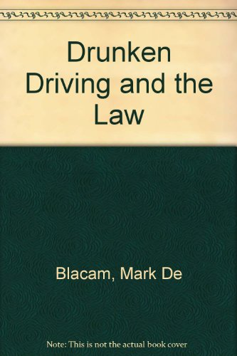 9780947686123: Drunken driving and the law (Legal handbooks series)