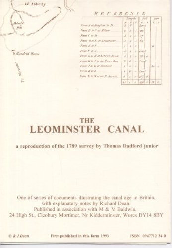 9780947712242: Leominster Canal (Waterway Heritage Collection)