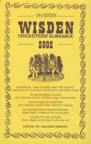 Wisden Cricketers' Almanack, 2002 (139th Edition): Wright, Graeme (ed.)