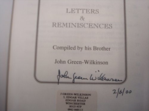 BISHOP OLIVER Letters and Reminiscences Soldier 1939: GREEN-WILKINSON, John