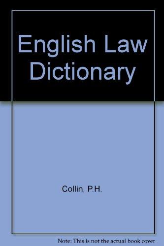 9780948549014: English Law Dictionary
