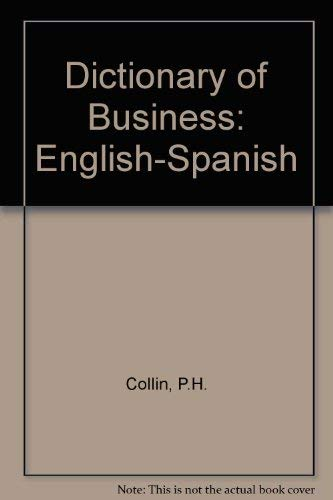 9780948549304: Dictionary of Business: English-Spanish