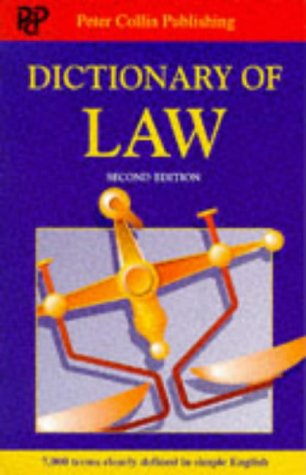 9780948549335: Dictionary of Law